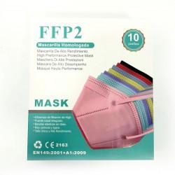 MASCARILLAS FFP2 COLORES 10...